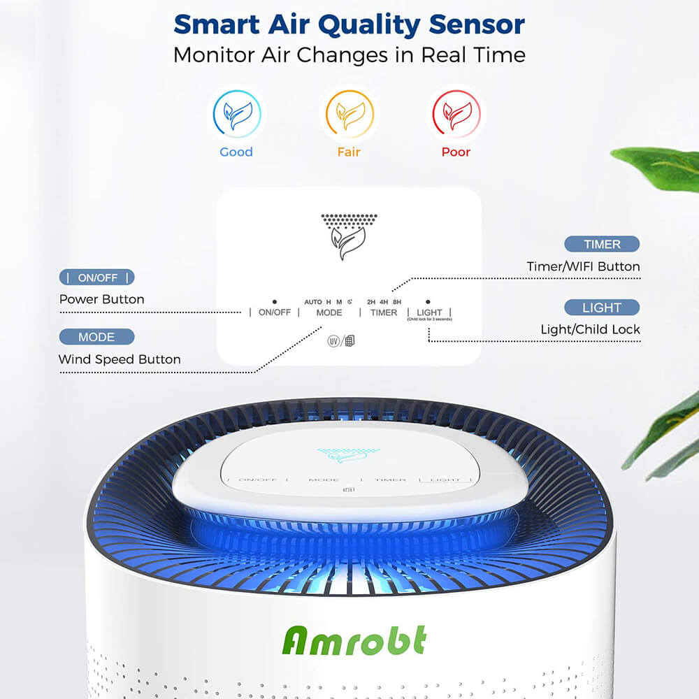 Amrobt Air Purifier Controls